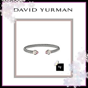 🔱DAVID YURMAN NEW! AUTH 7mm MORGANITE & DIAMOND🔱